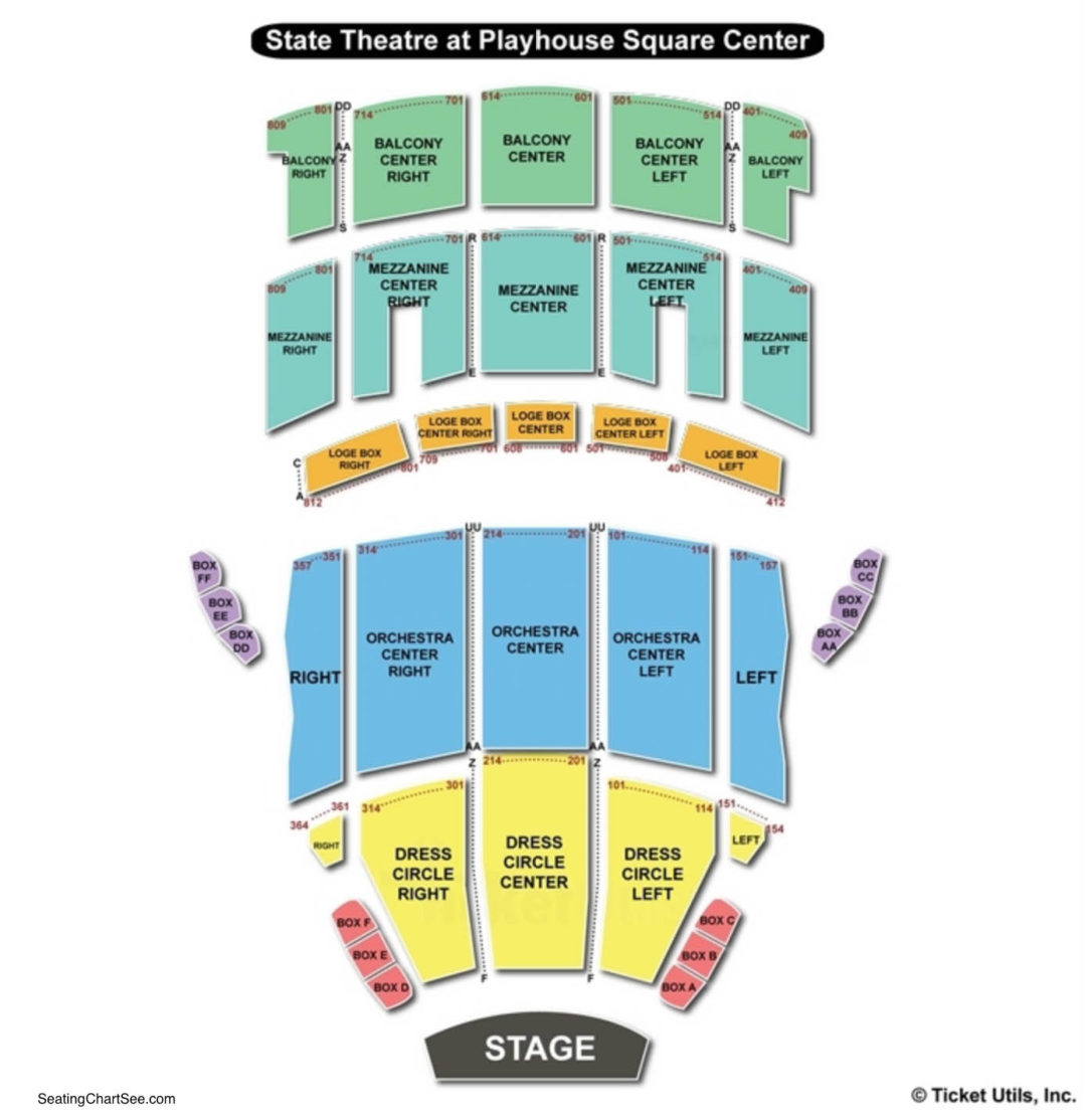 State Theatre The Playhouse Square Center Seating Chart