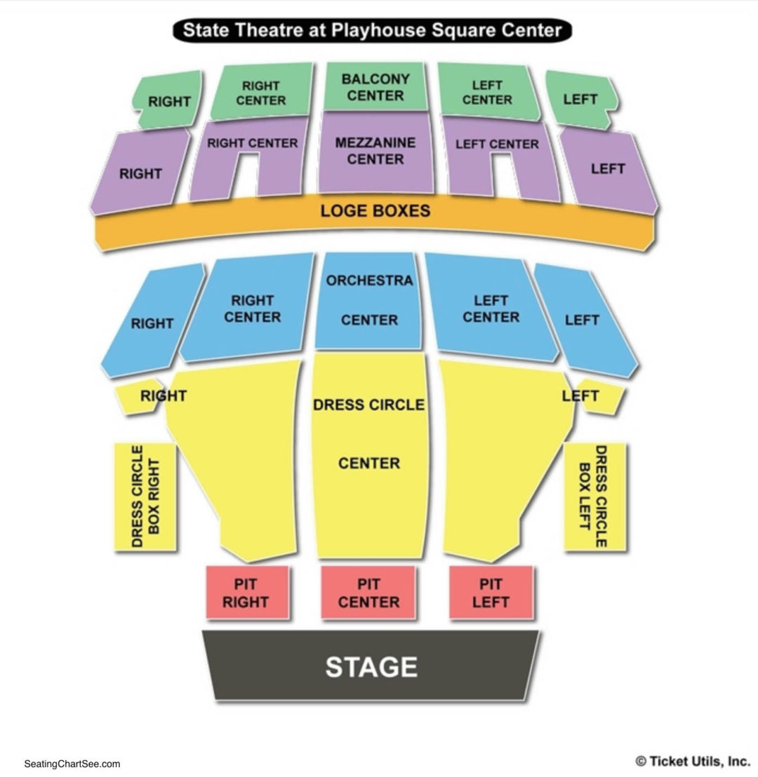 State Theatre The Playhouse Square Center Seating Chart Seating
