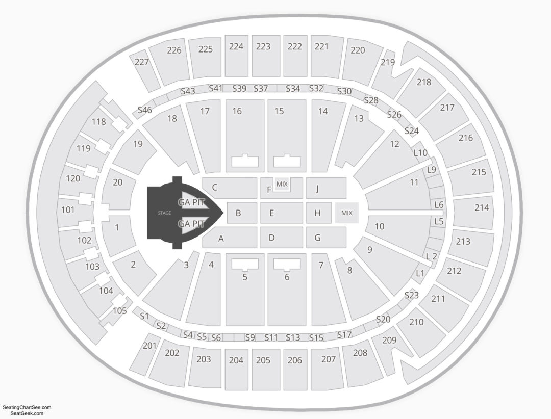 T Mobile Arena Seating Chart Seating Charts Tickets
