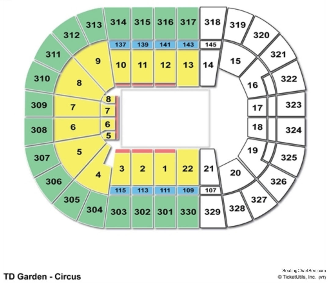 Td garden seating chart seating charts tickets - Parking garages near madison square garden ...