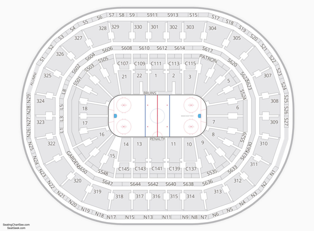 Td garden seating chart seating charts tickets for Td garden seating chart with seat numbers