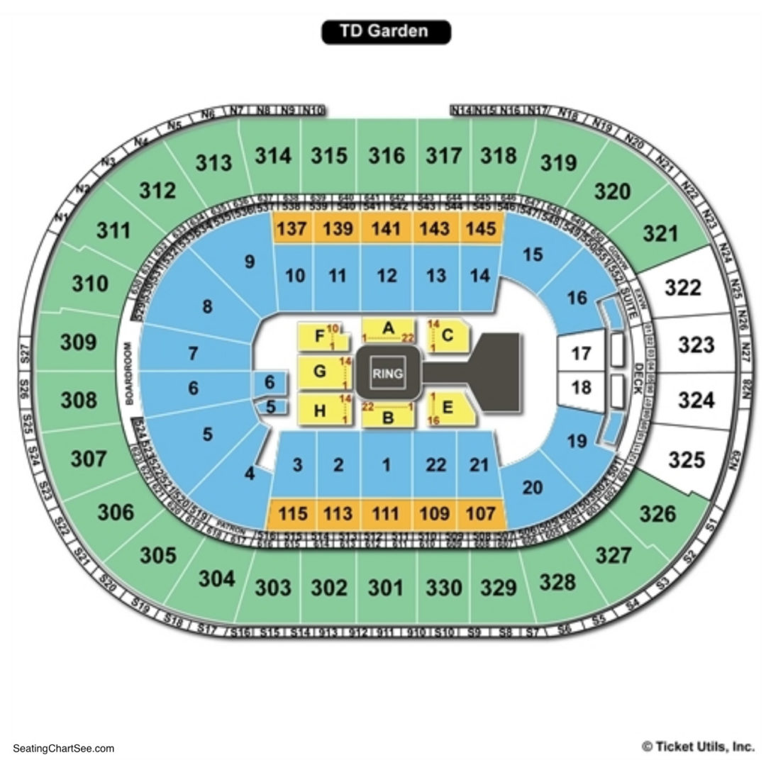 Td Garden Seating Chart Seating Charts Tickets