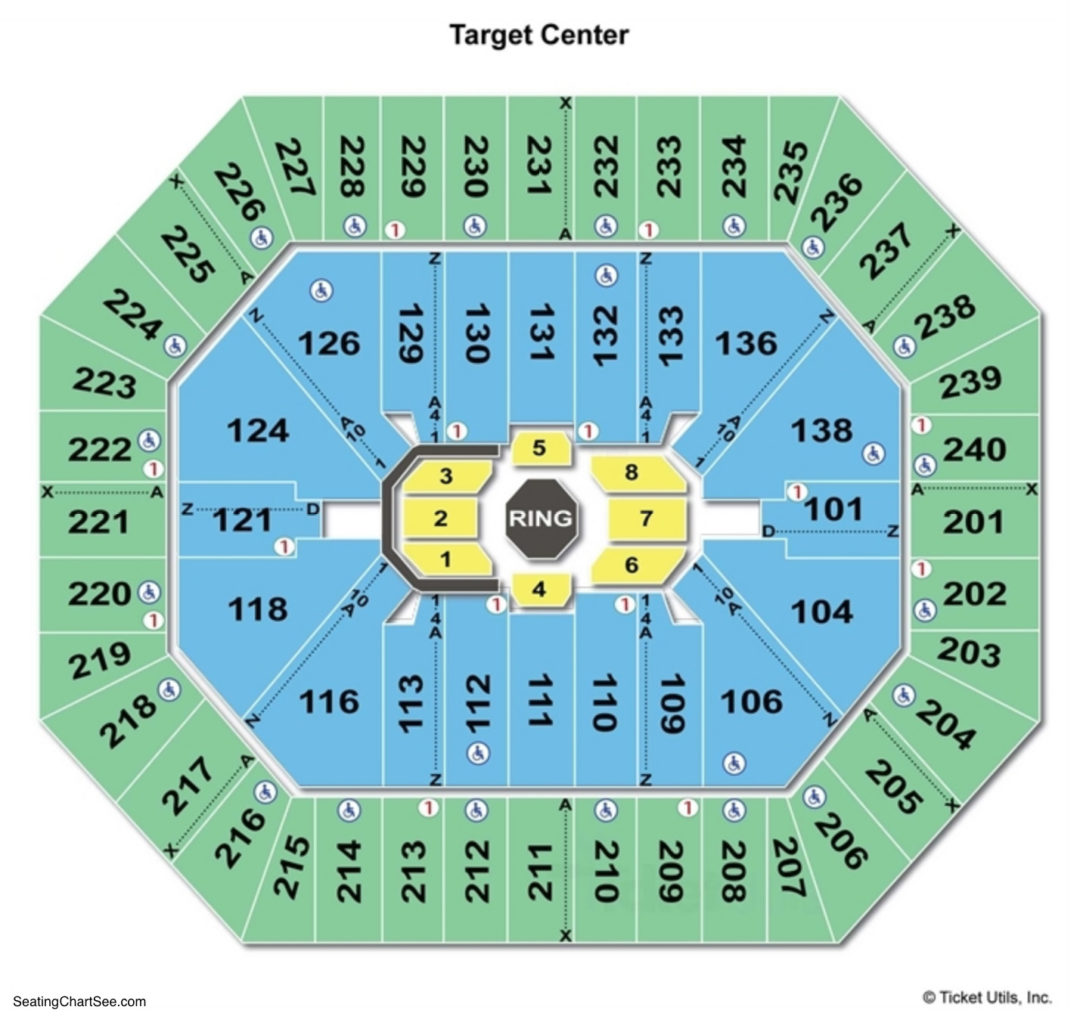 Target Center Seating Chart Charts Tickets