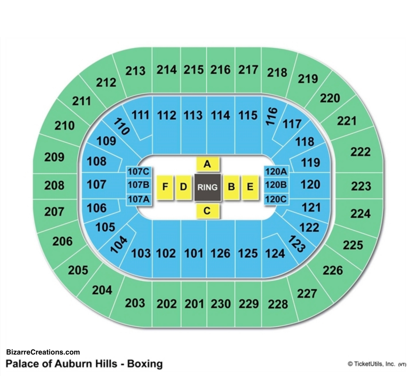 Palace Of Auburn Hills Seating Chart Seating Charts Tickets