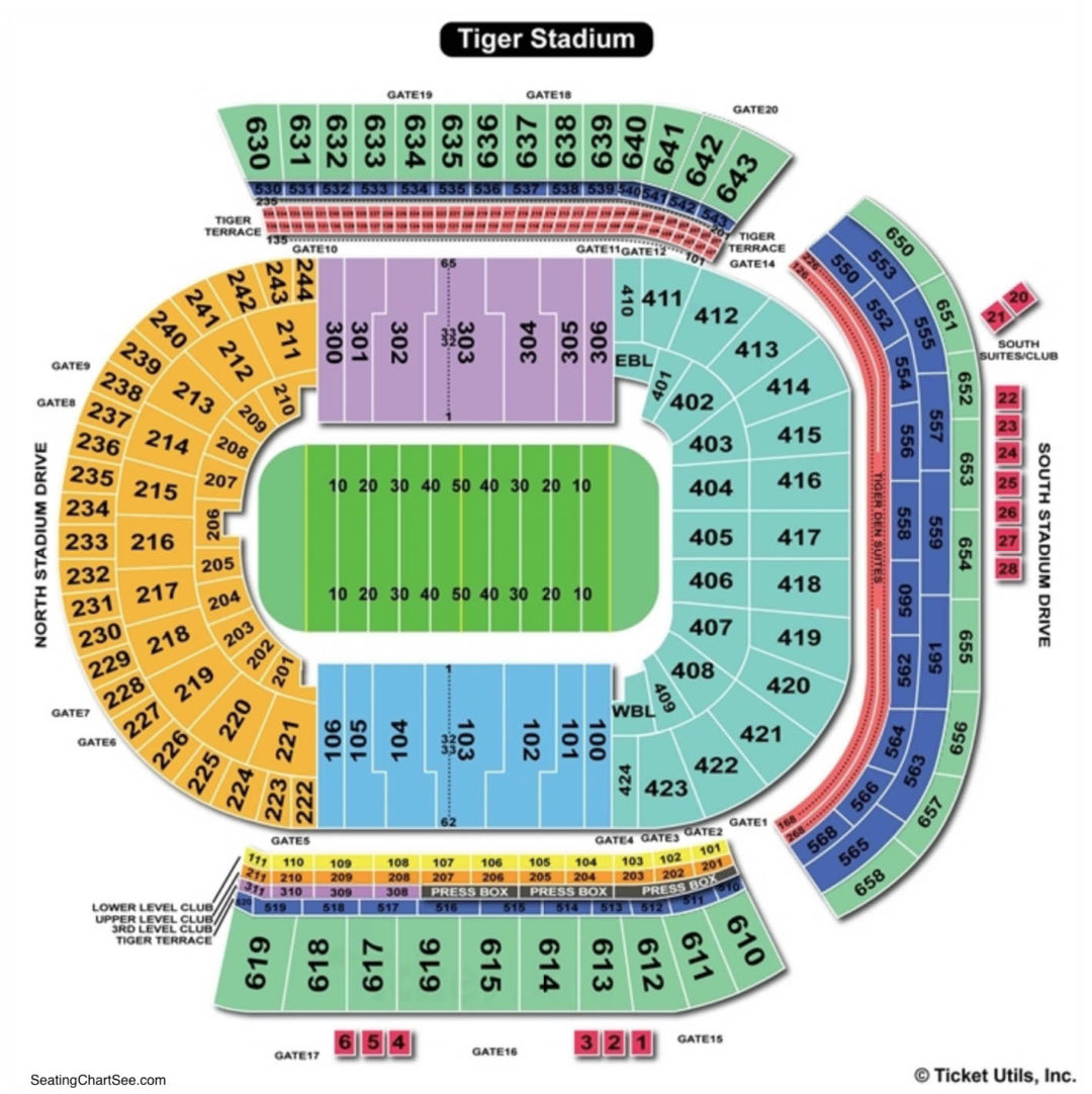 Lsu tiger stadium seating chart seating charts tickets