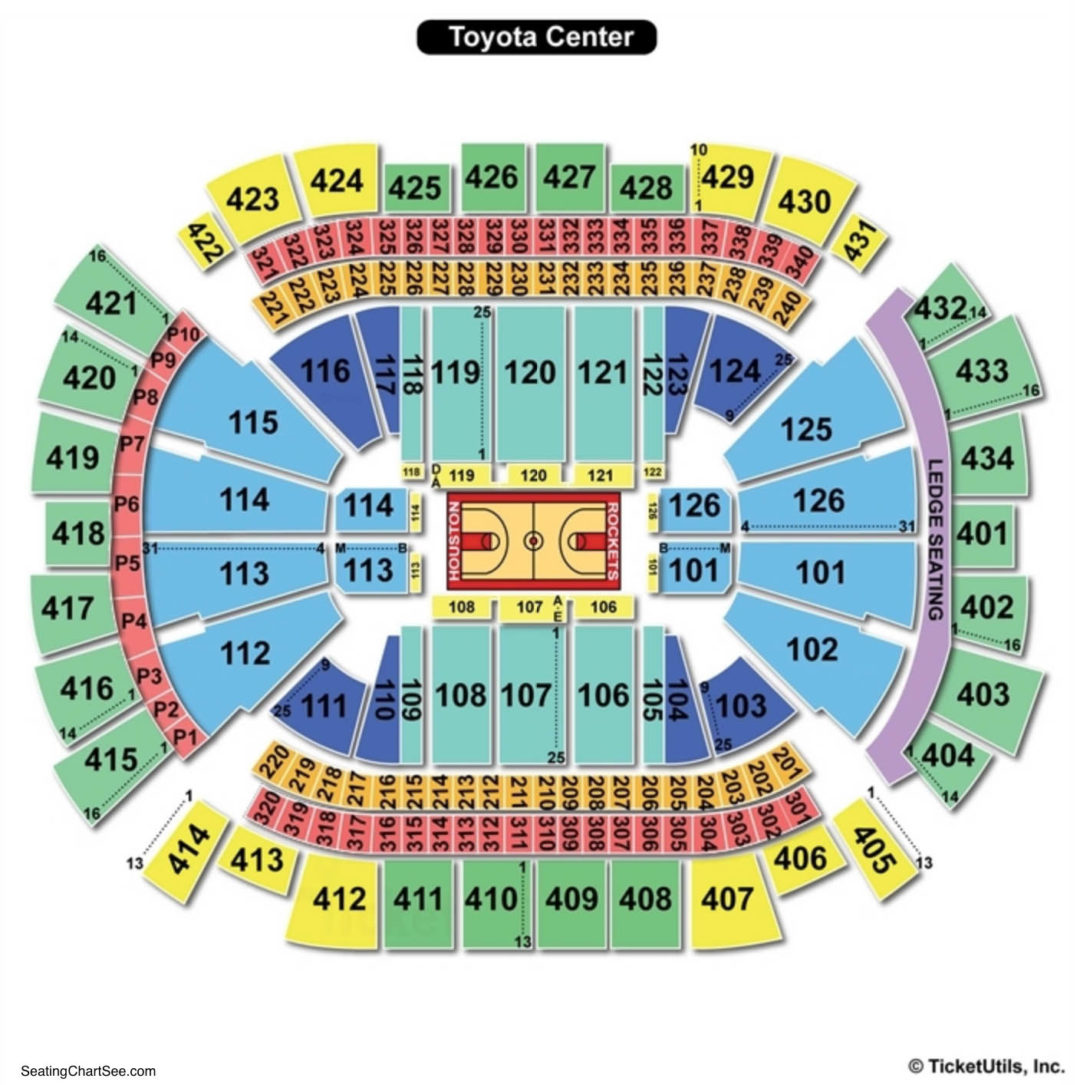 Toyota Center Basketball Seating Chart