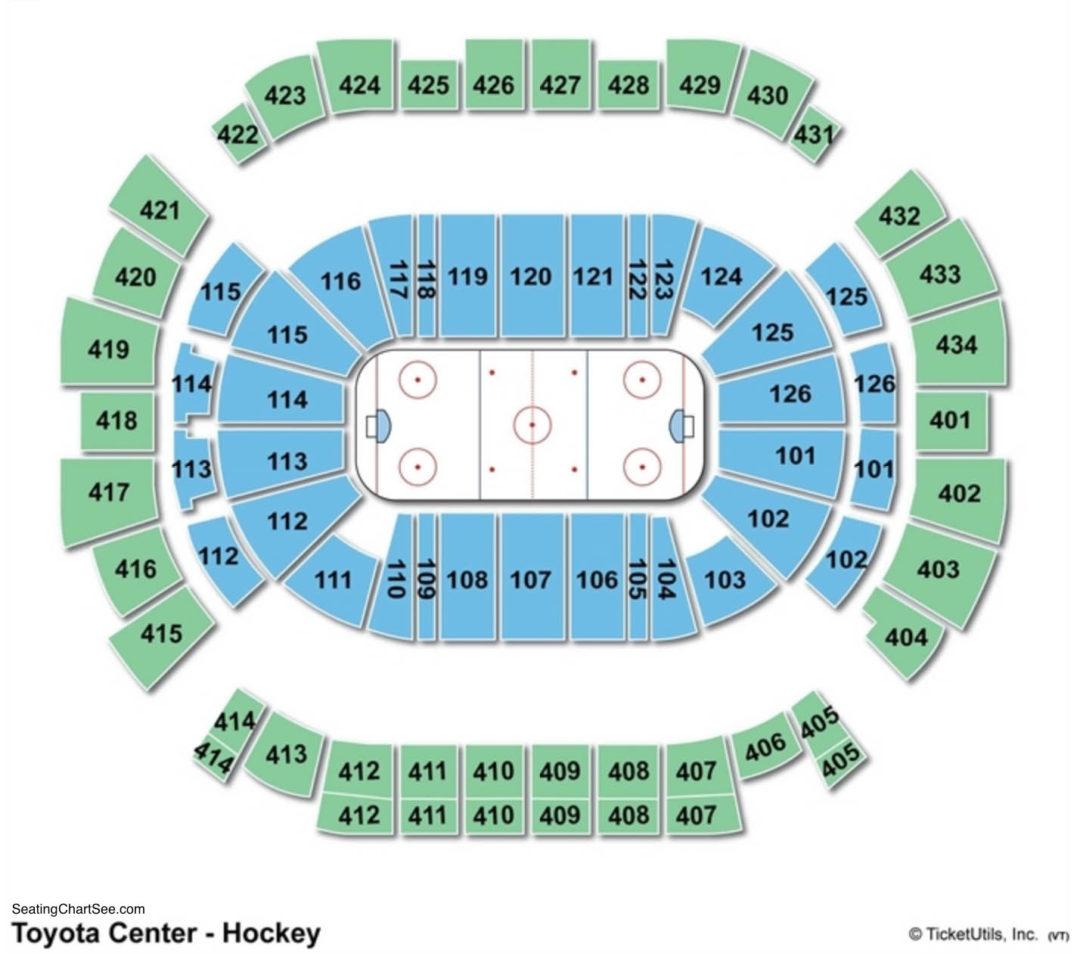 Toyota Center Hockey Seating Chart