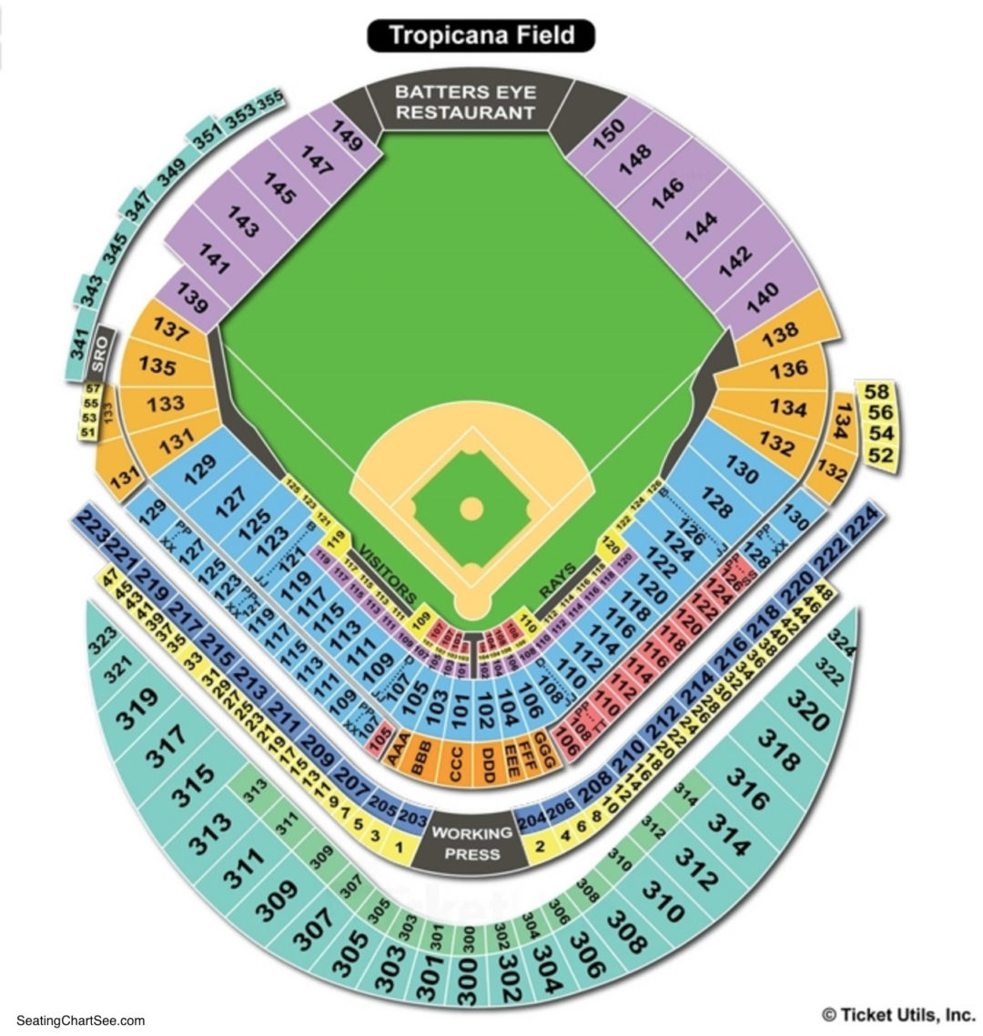 Tropicana field seating chart seating charts tickets