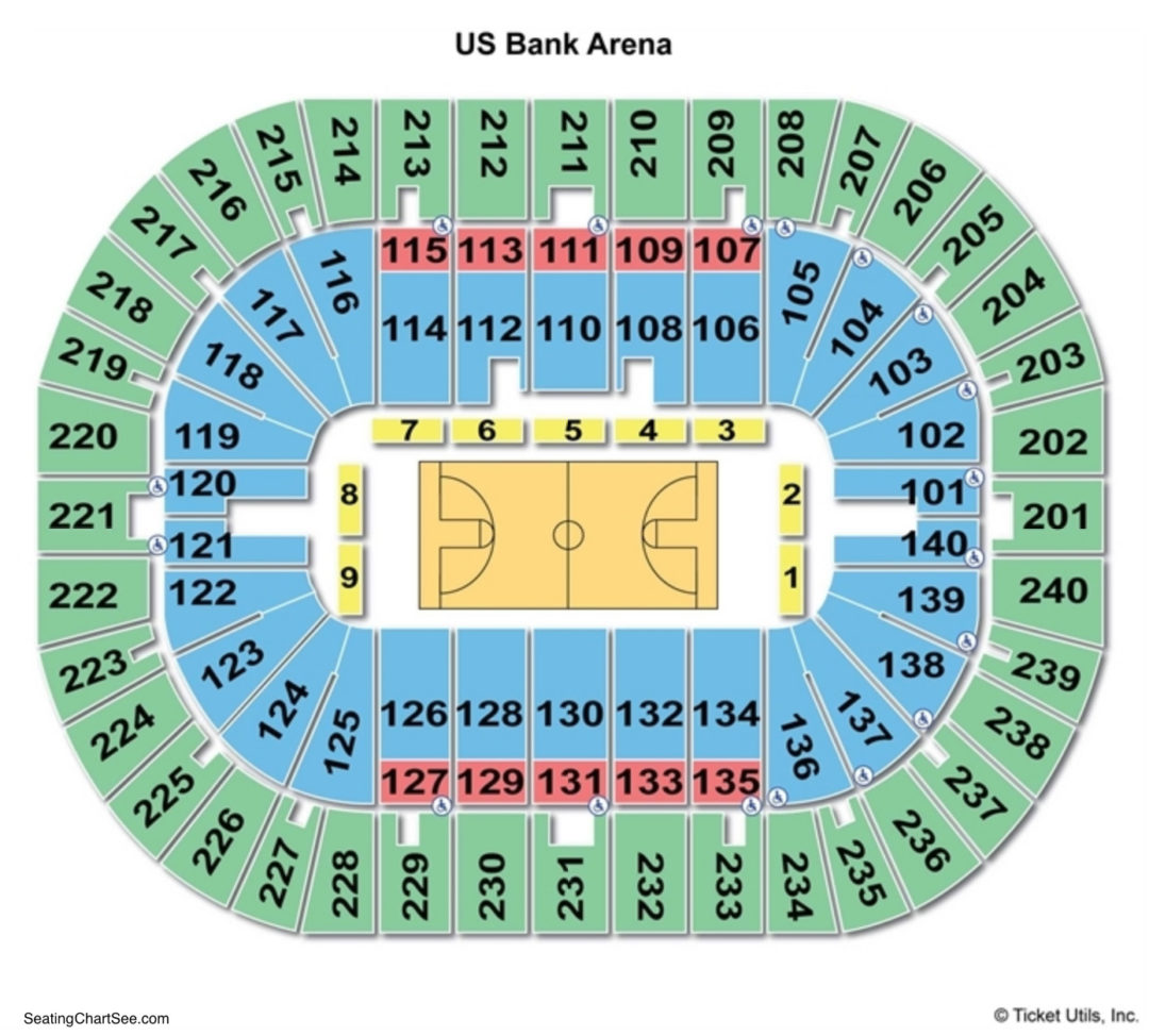 Us Bank Arena Seating Chart Seating Charts Tickets