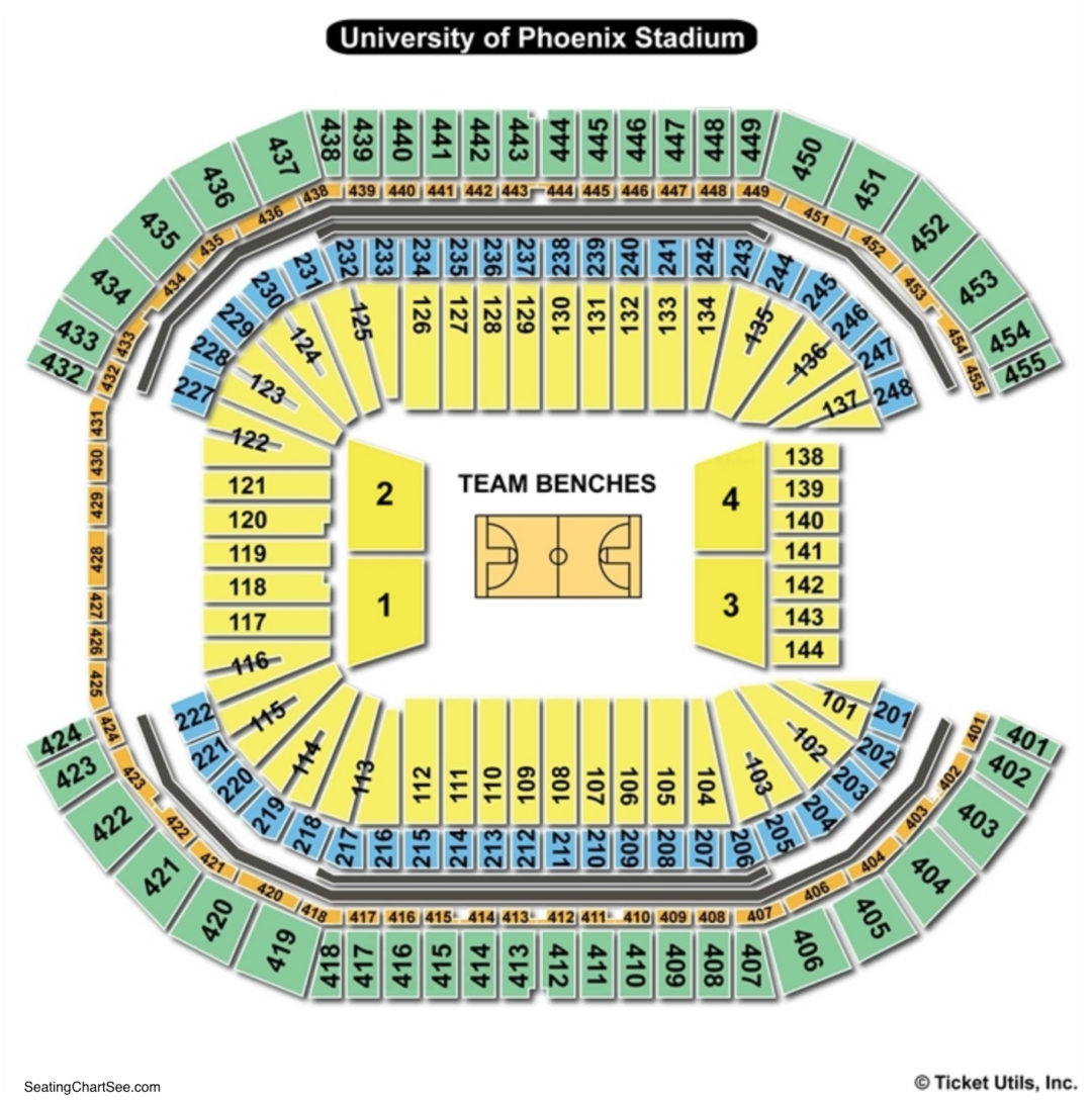 University of phoenix stadium seating chart seating charts tickets