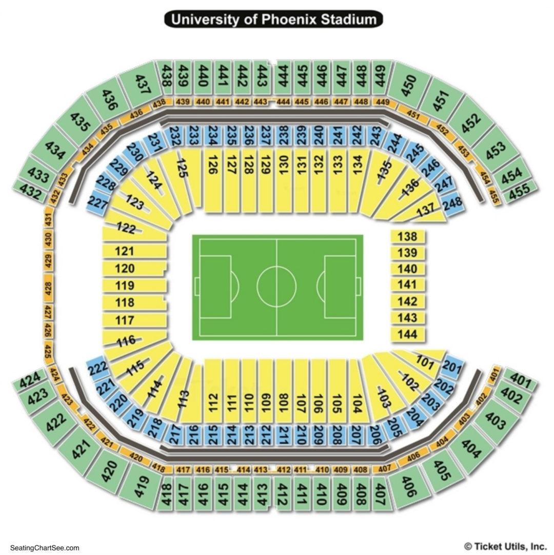 University Of Phoenix Stadium Seating Chart | Seating ...