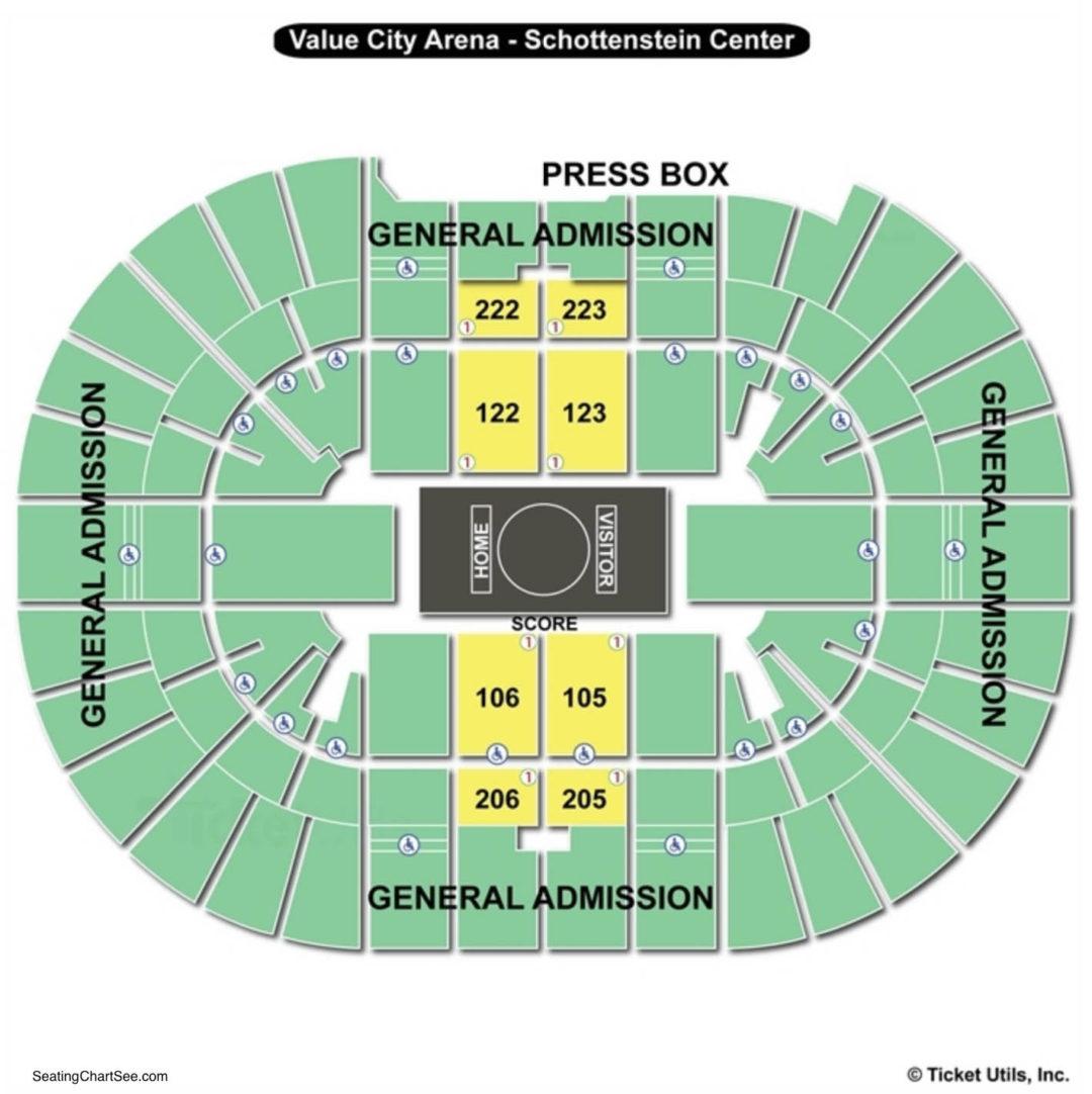 Value City Arena Schottenstein Center Seating Chart Wrestling