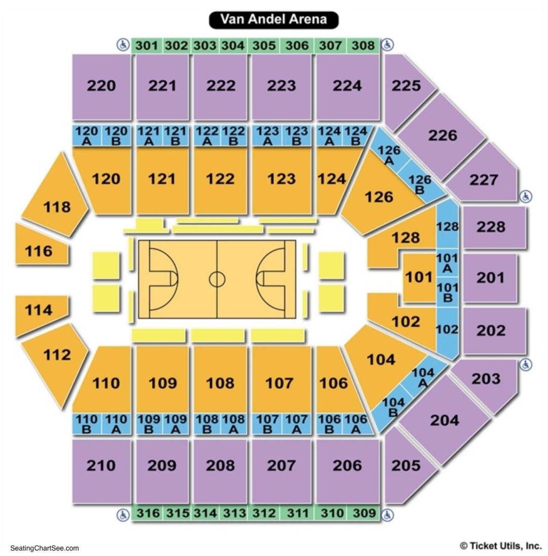 Van Andel Arena Basketball Seating Chart