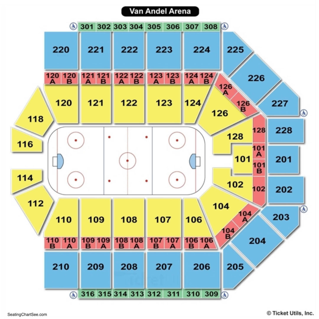 Van Andel Arena Hockey Seating Chart