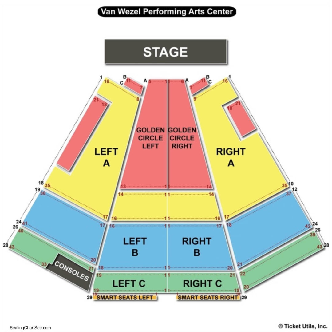 Van wezel performing arts hall seating chart seating charts tickets
