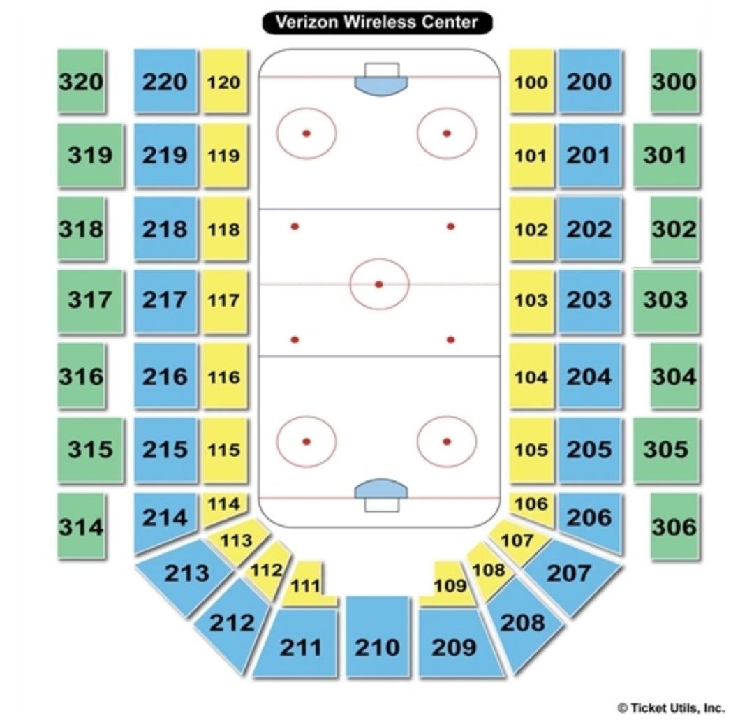 Verizon wireless center seating chart mankato seating charts tickets
