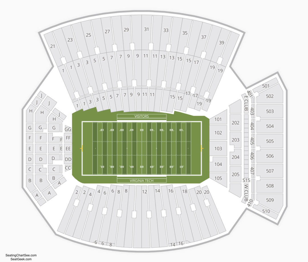Virginia Tech Hokies Football Seating Chart Lane Stadium Information