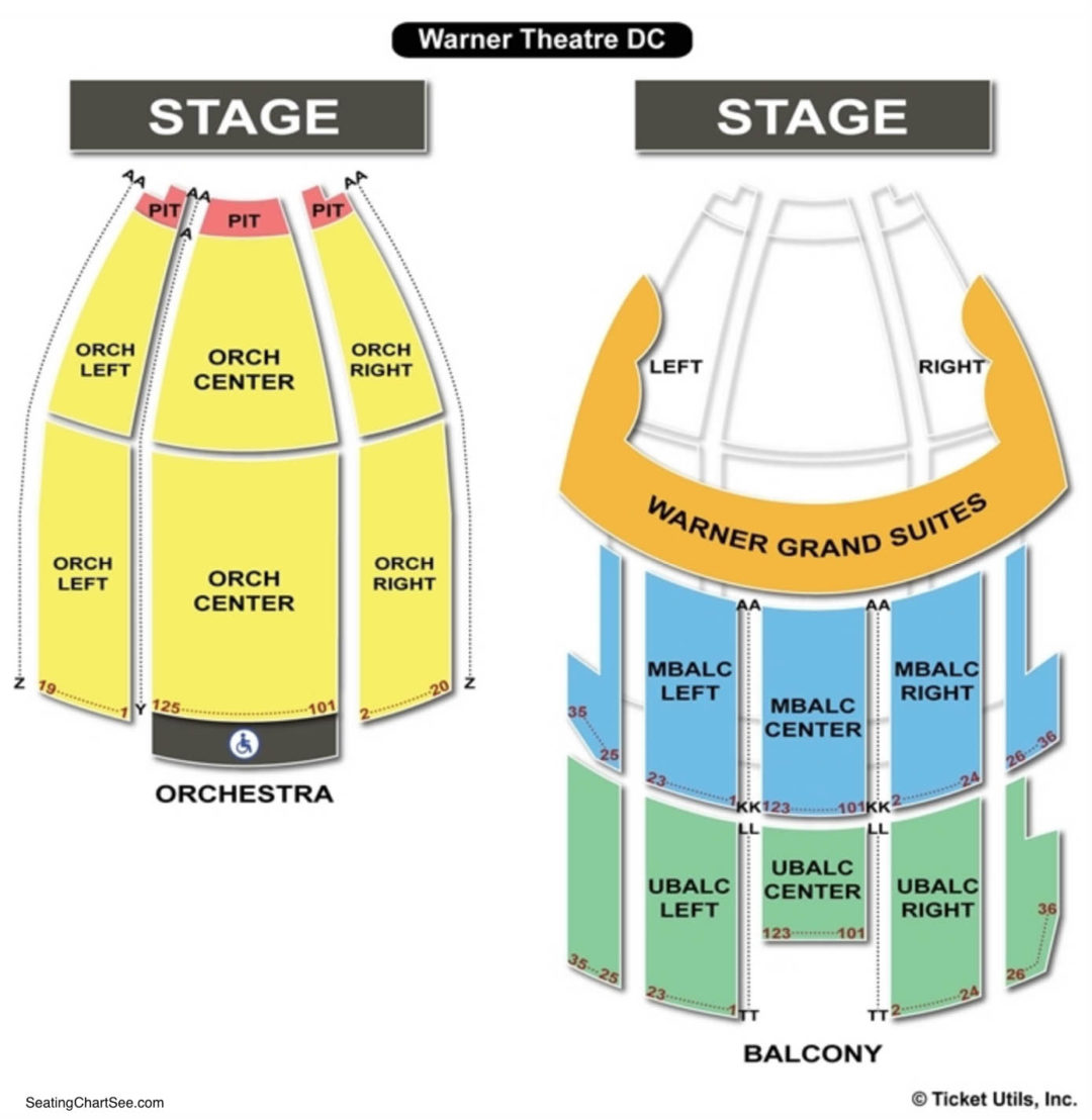 Warner Theatre Washington Dc Seating Chart