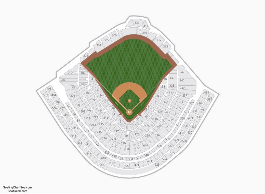 wrigley field seating chart | seating charts & tickets