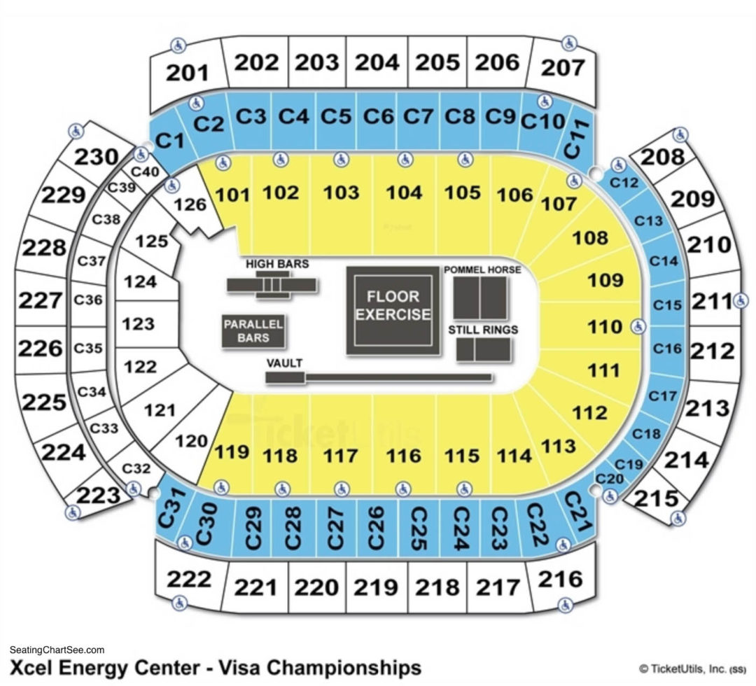Xcel Energy Center Seating Chart Seating Charts Amp Tickets