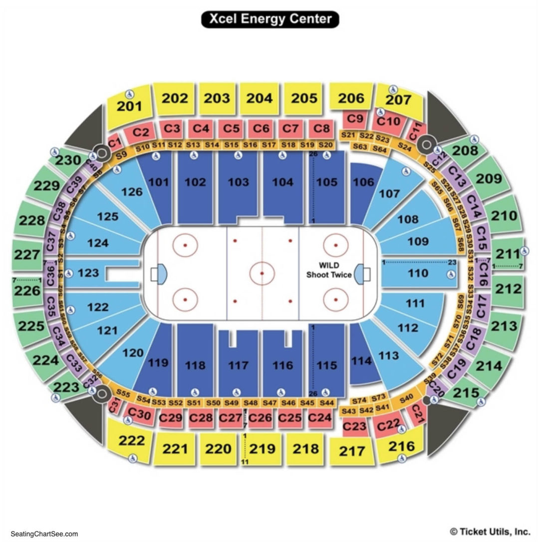 Xcel Energy Center Seating Map Xcel Energy Center Seating Chart | Seating Charts & Tickets Xcel Energy Center Seating Map