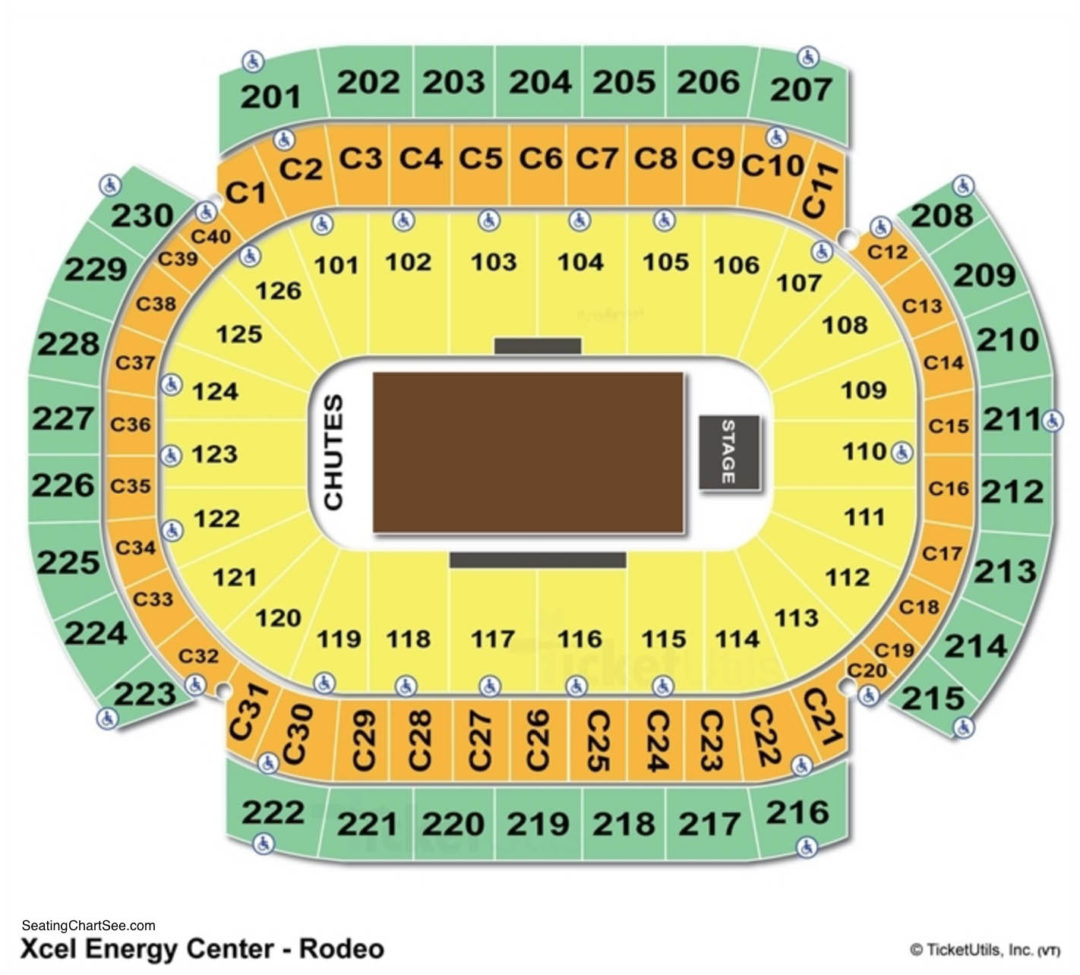 Xcel Energy Center Seating Chart Seating Charts Tickets