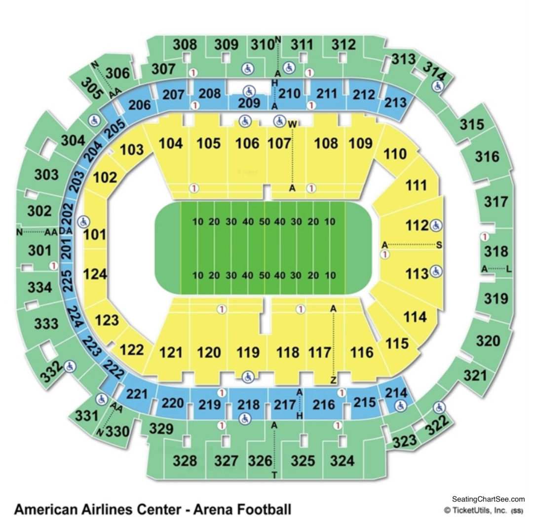 American Airlines Center Seating Chart Seating Charts