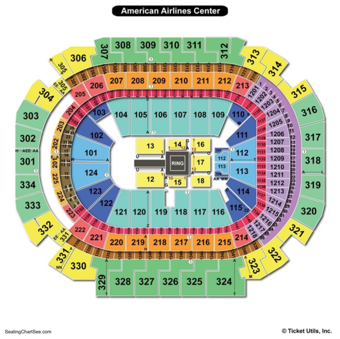 american airlines center seating chart | seating charts