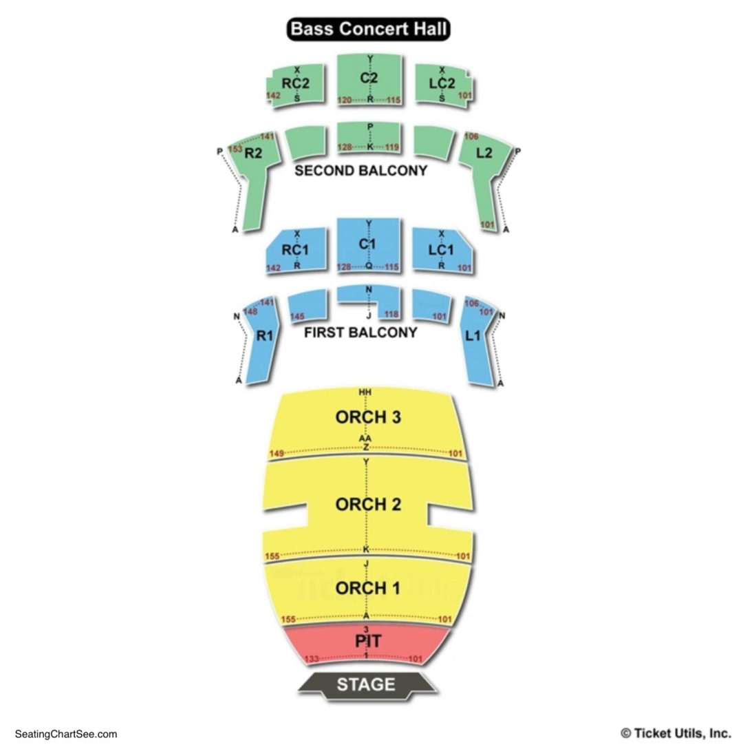Bass concert hall seating chart seating charts tickets