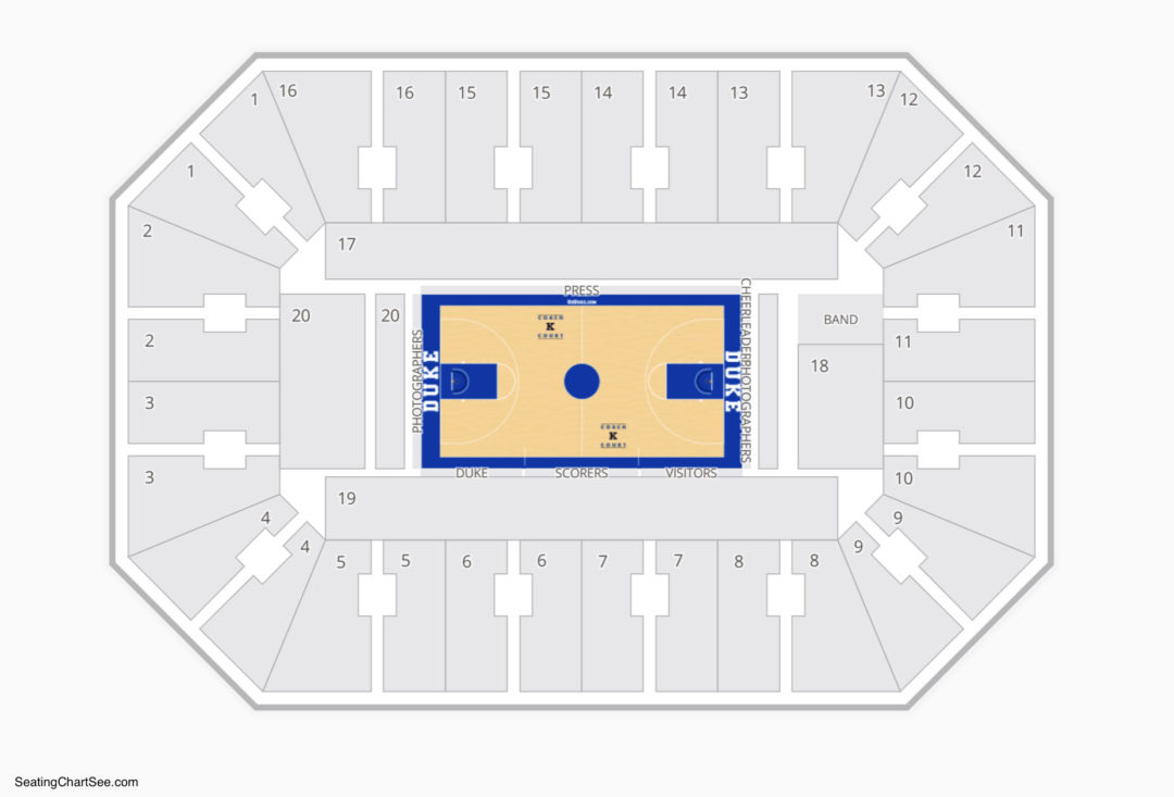 Cameron Indoor Stadium Seating Chart Seating Charts