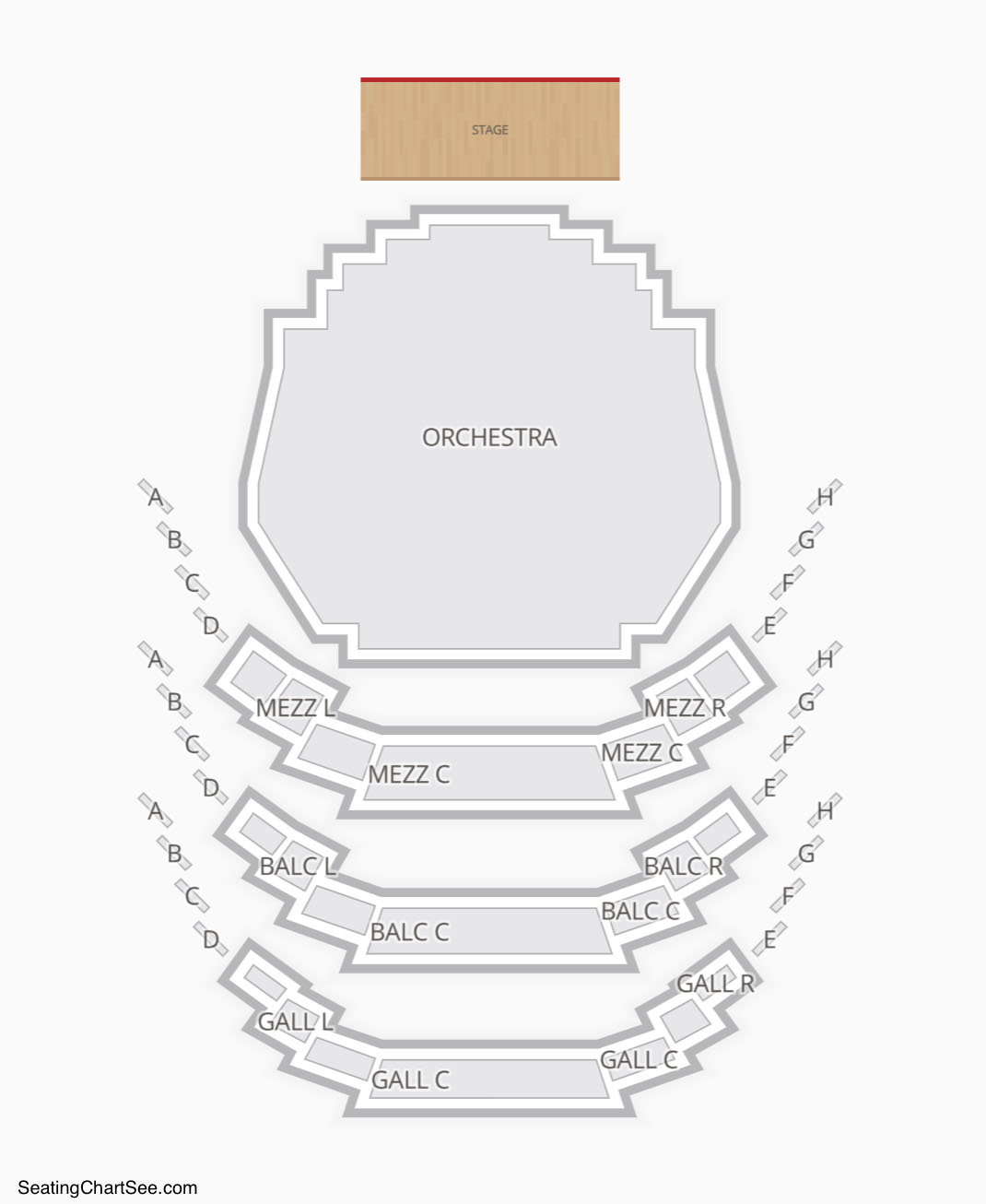 Carol Morsani Hall Seating Chart