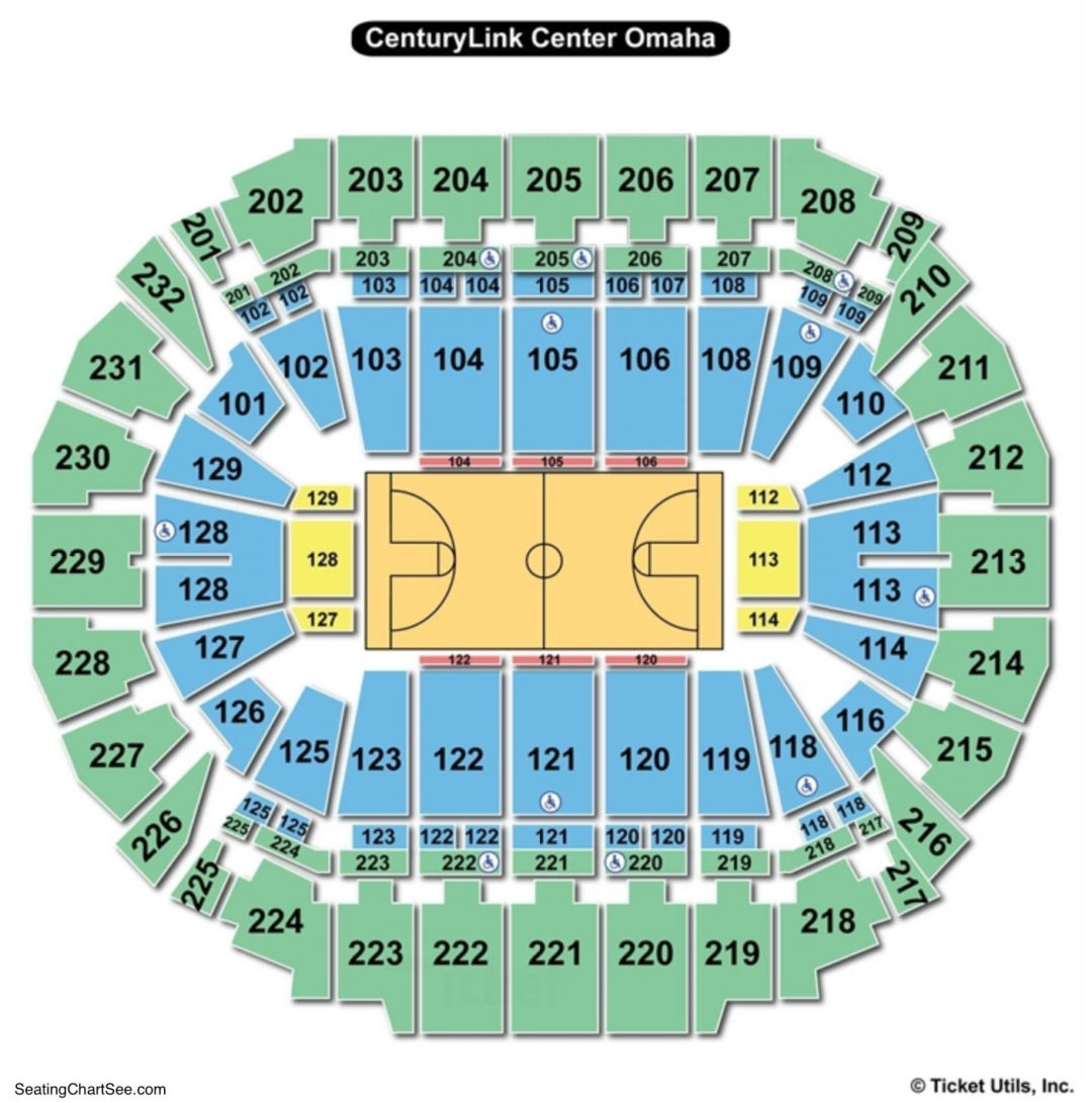 Centurylink center omaha seating chart seating charts tickets