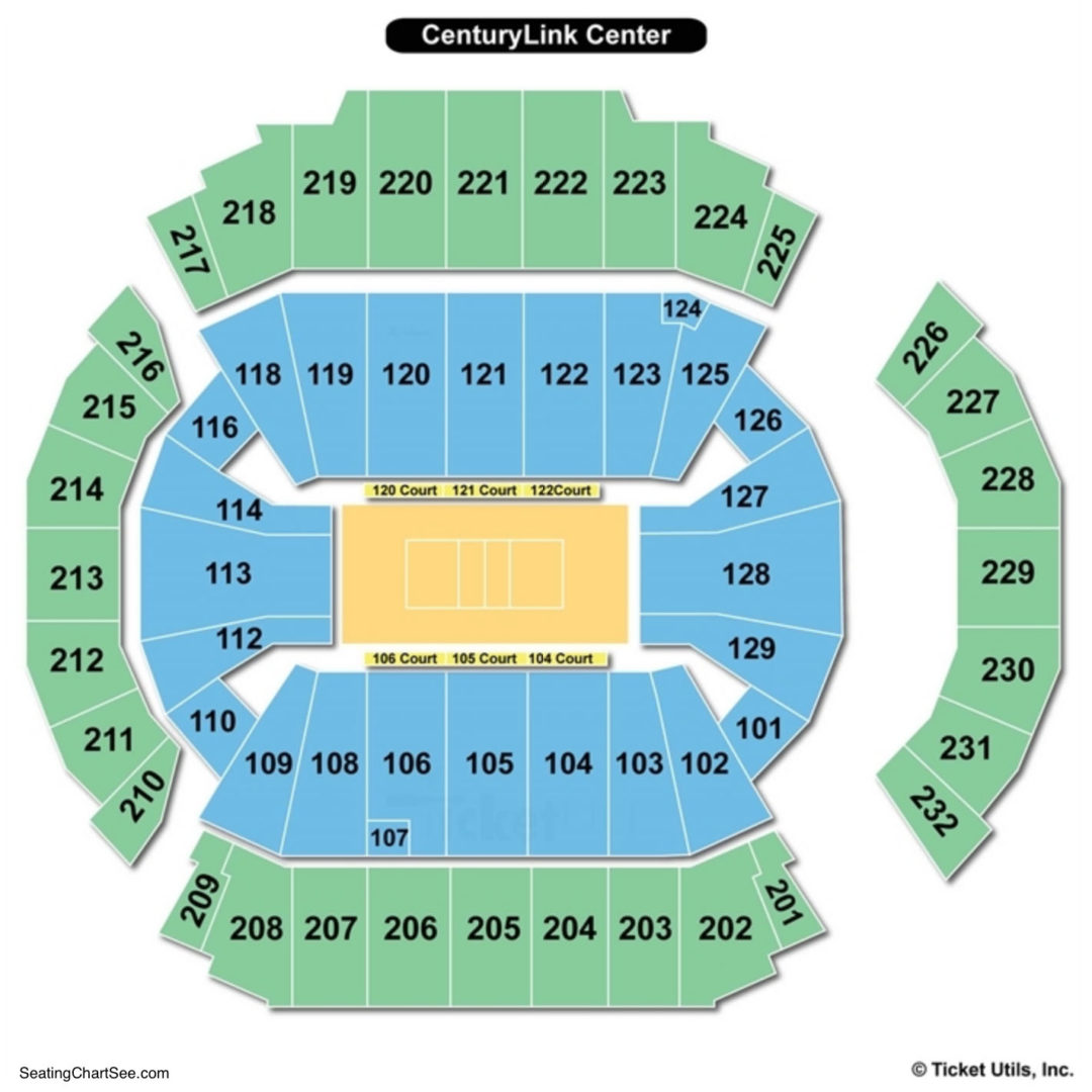 CenturyLink Center Omaha Seating Chart | Seating Charts & Tickets on landers center seating map, smoothie king center seating map, verizon center seating map, consol energy center seating map, santa ana star center seating map, centurylink arena seating chart, centurylink center concert, target center seating map, centurylink omaha seating-chart, bethel woods center for the arts seating map, scottrade center seating map, sears center seating map, united center seating map, cintas center seating map, centurylink field 3d seating chart, centurylink center concessions, ford center seating map, columbus civic center seating map, bb&t center seating map, mccarthey athletic center seating map,