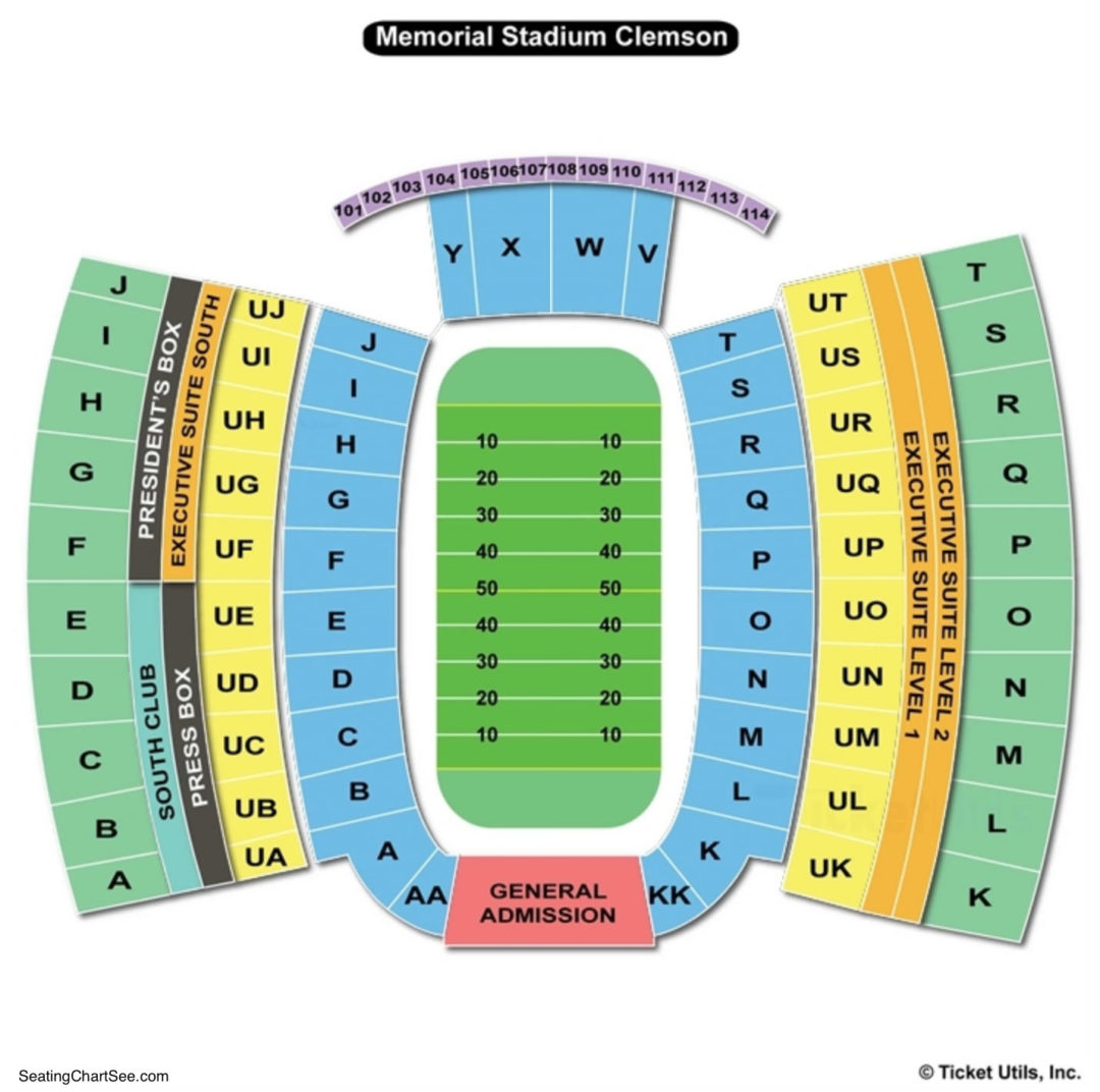 Clemson Memorial Stadium Seating Chart