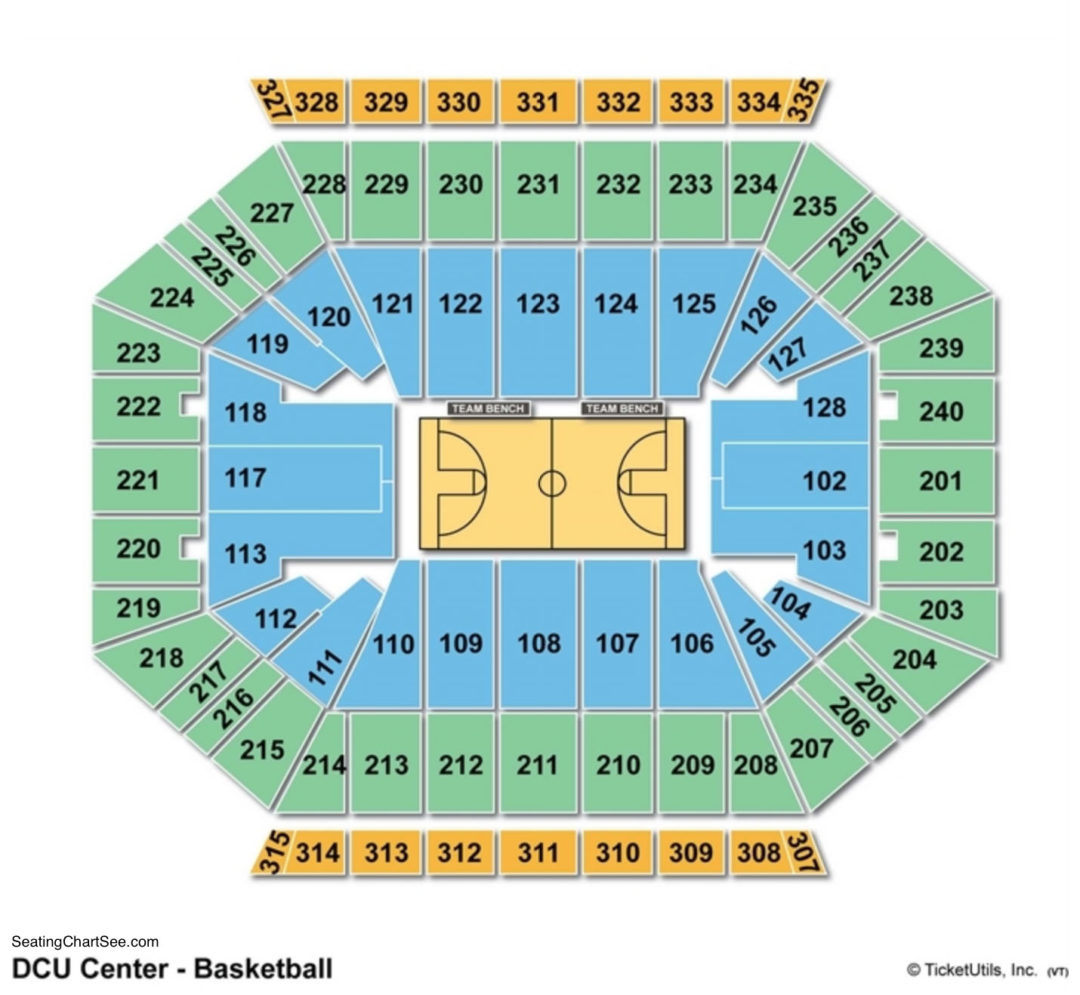 Dcu center seating chart seating charts tickets