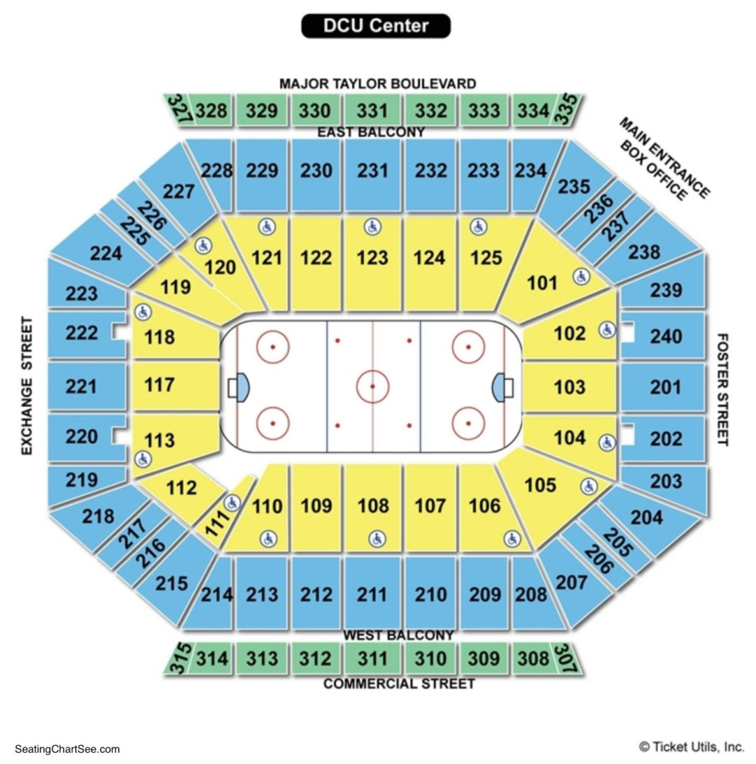 DCU Center Seating Chart | Seating Charts & Tickets on