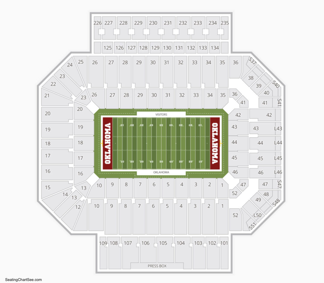 Gaylord Family Oklahoma Memorial Stadium Seating Chart