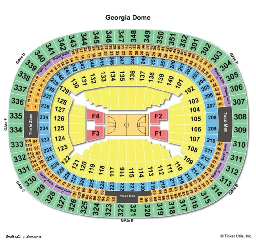 Georgia Dome Seating Chart | Seating Charts & Tickets on gila river arena map, amicalola falls georgia map, heinz field map, tokyo dome city map, mapquest georgia map, edward jones dome map, superdome map, world of coke map, covington georgia map, target center map, terminus georgia map, tacoma dome parking lot map, cobb county georgia map, georgia state university map, carrier dome map, the palace of auburn hills map, north georgia premium outlets map, royal farms arena map, plains georgia map, georgia tech map,