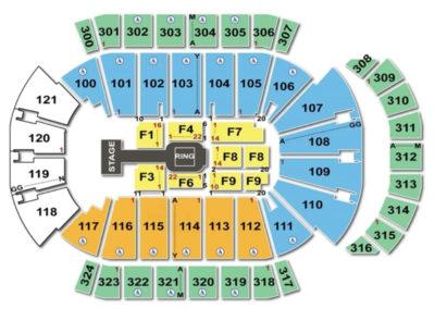 Jacksonville Veterans Memorial Arena Seating Chart Wwe