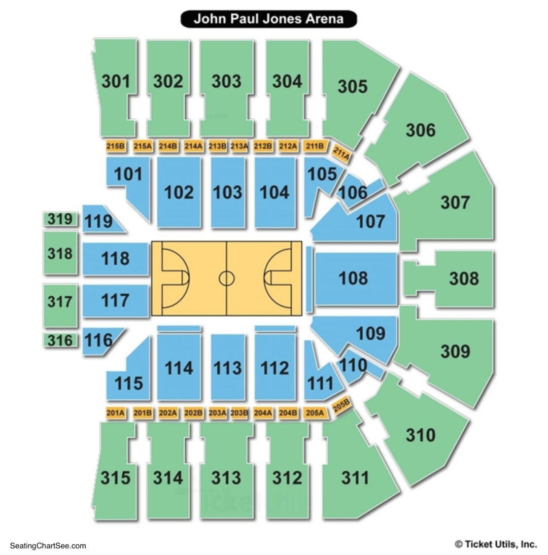 John Paul Jones Arena Seating Chart Basketball