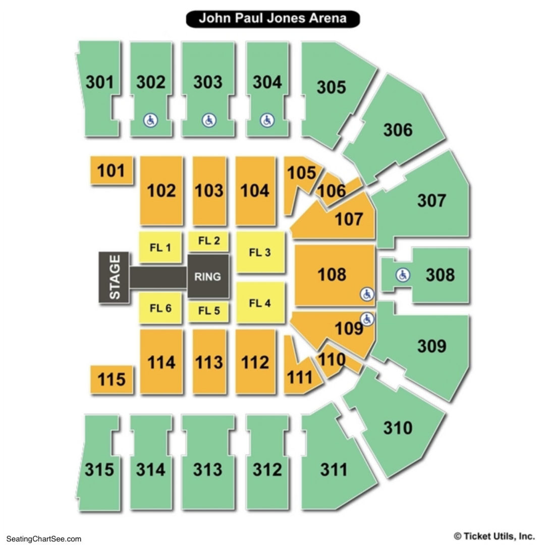 John Paul Jones Arena Seating Chart | Seating Charts & Tickets
