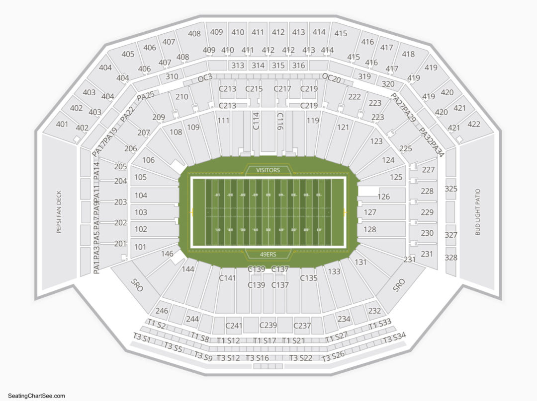 Levis Stadium Seating Chart Seating Charts Tickets
