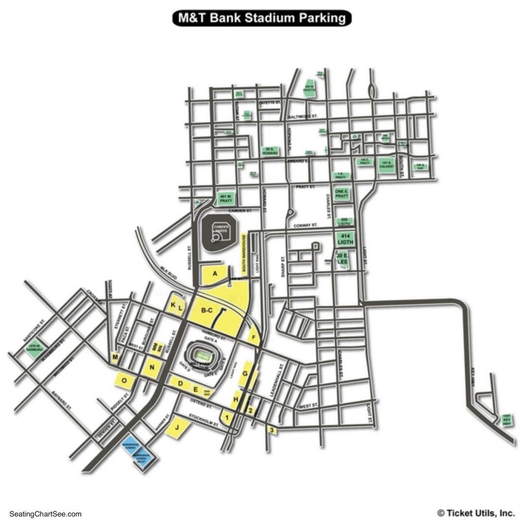 Mt Bank Stadium Parking Seating Chart U2