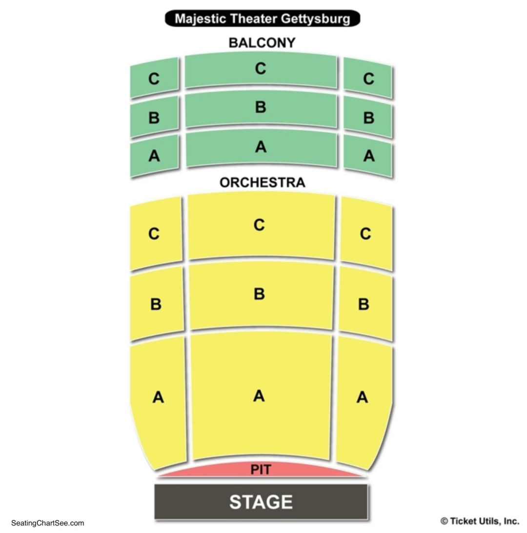 Majestic Theater Gettysburg Seating Chart Seating Charts