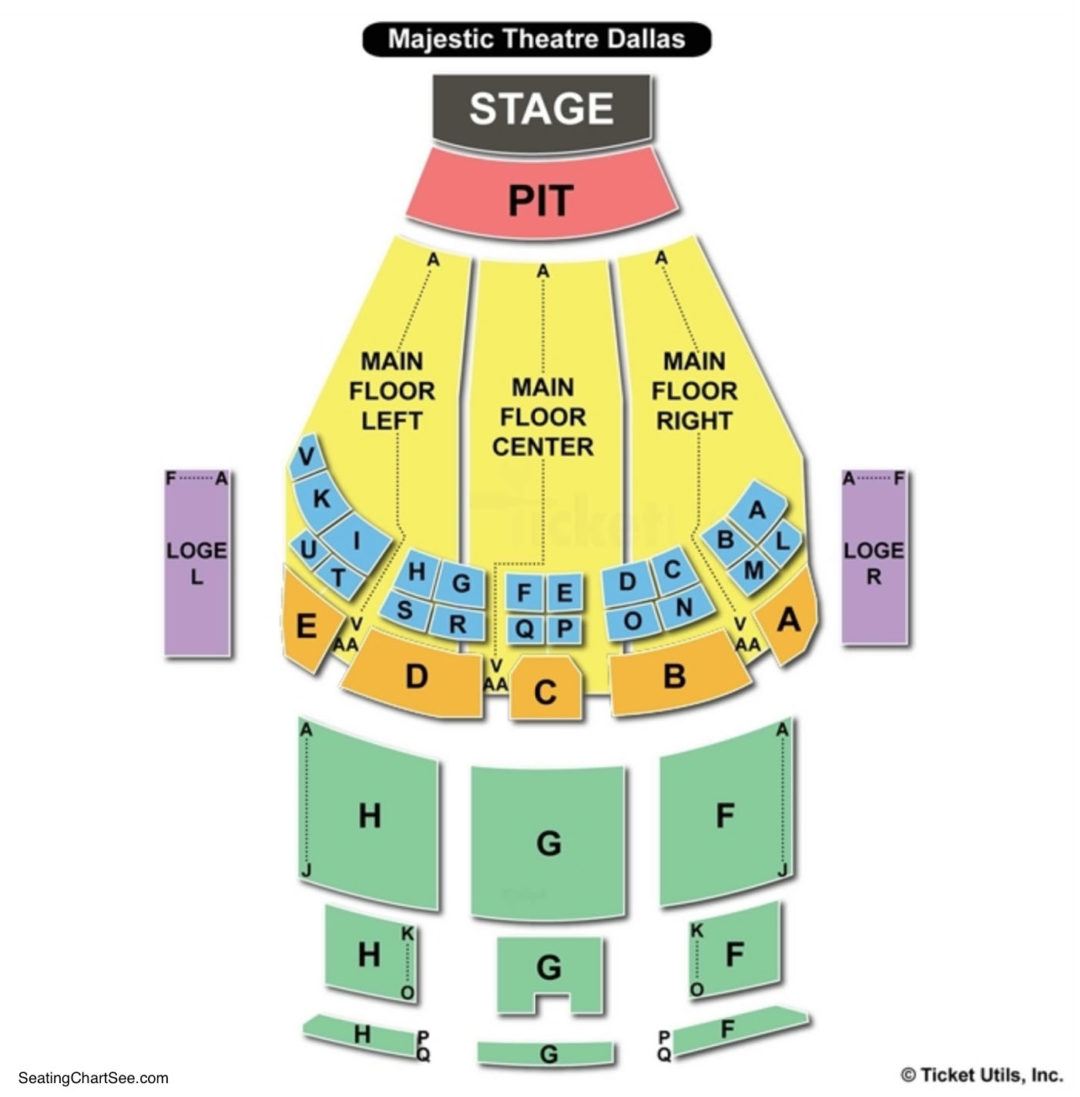 Majestic Theater New York Virtual Seating Chart Awesome Home