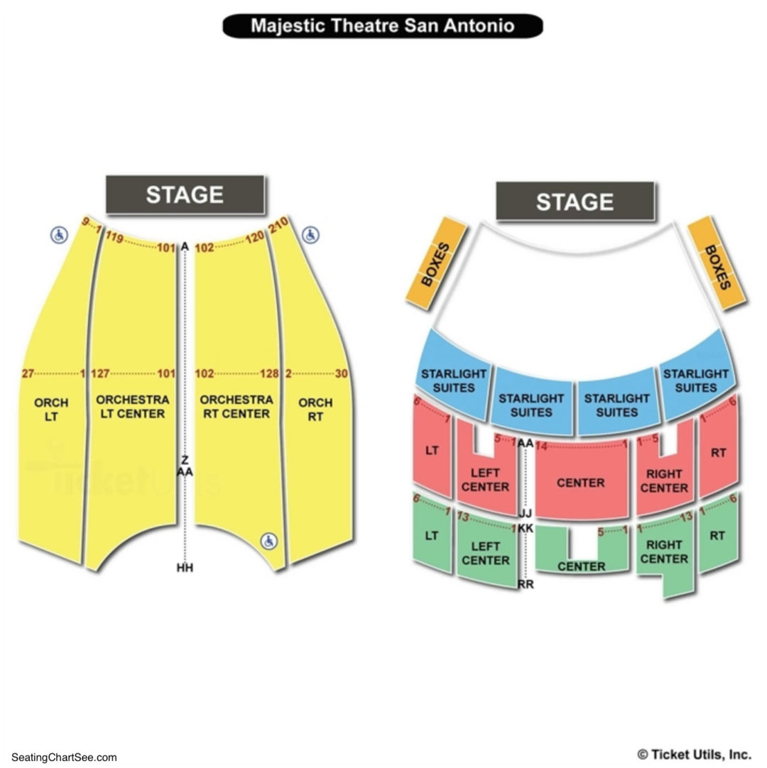 Majestic Theatre Seating Chart San Antonio