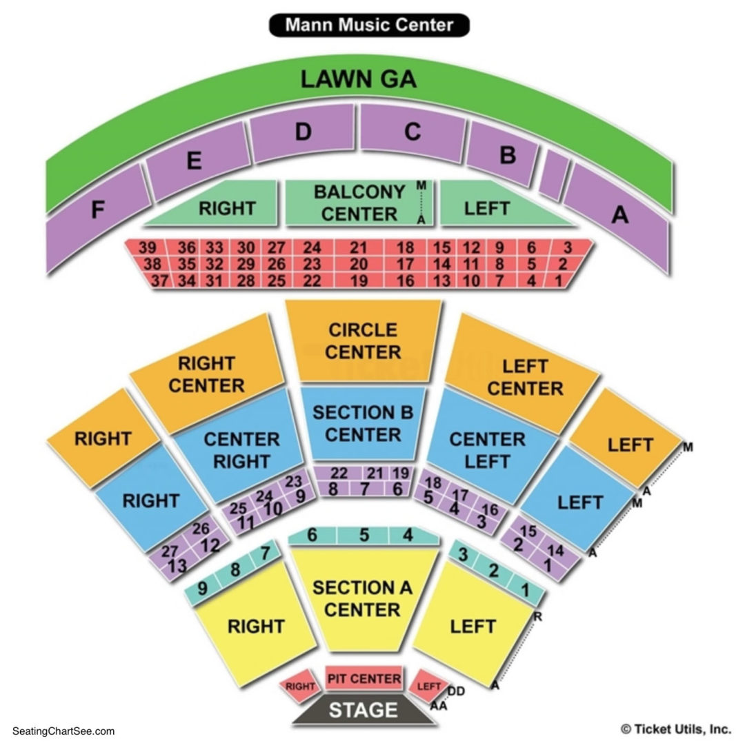 Mann Center For The Performing Arts Seating Chart Seating