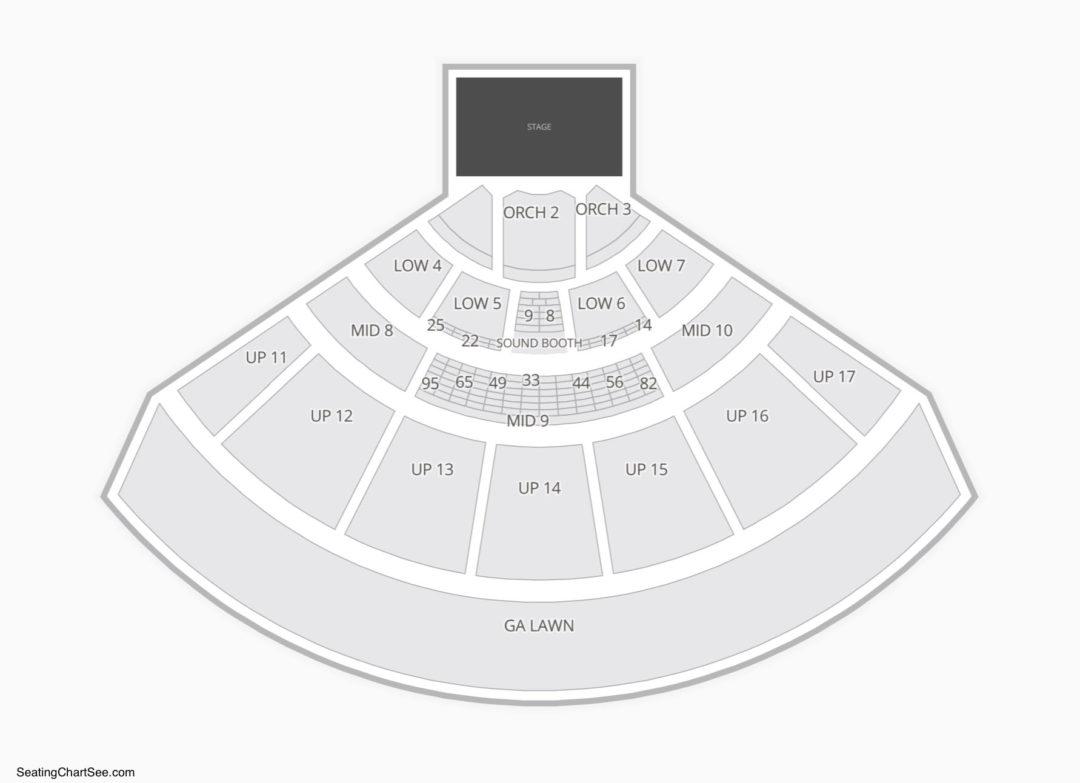 Midflorida credit union amphitheatre seating chart seating charts