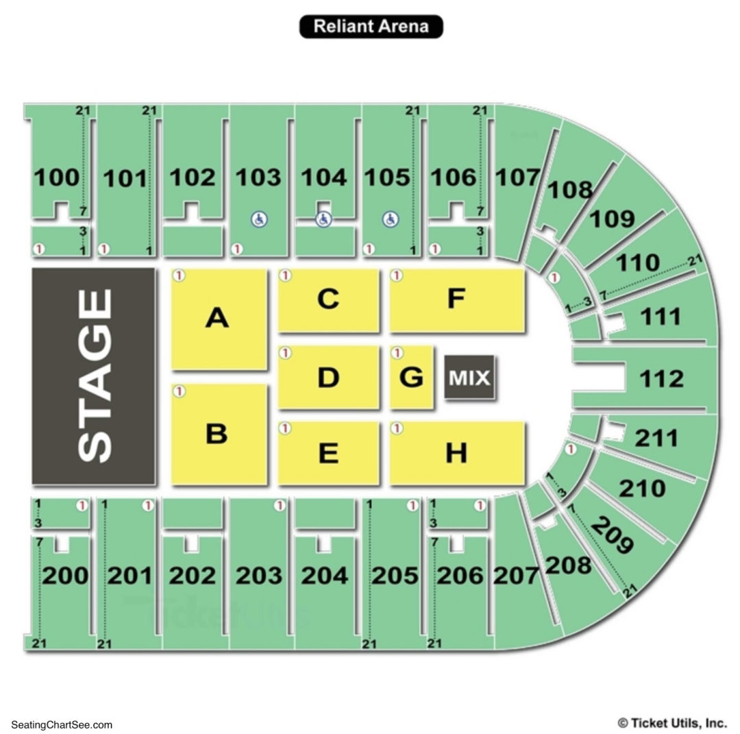 Nrg Arena Seating Chart Seating Charts Tickets