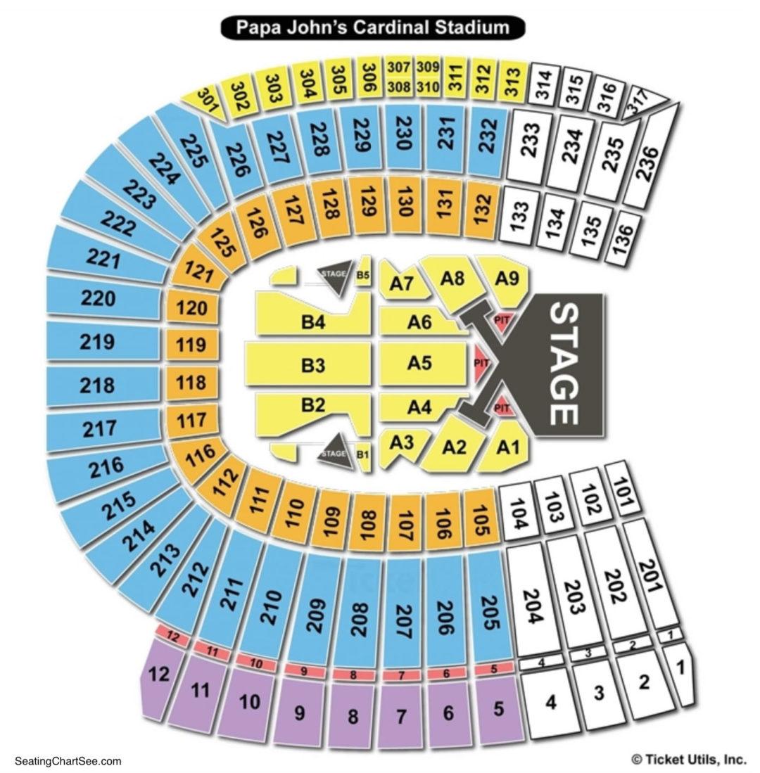 Papa Johns Cardinal Stadium Seating Chart Seating Charts